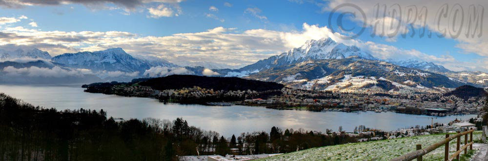 Panoramic Swiss Alps hill Luzern Switzerland Mount Pilatus Swiss Alps