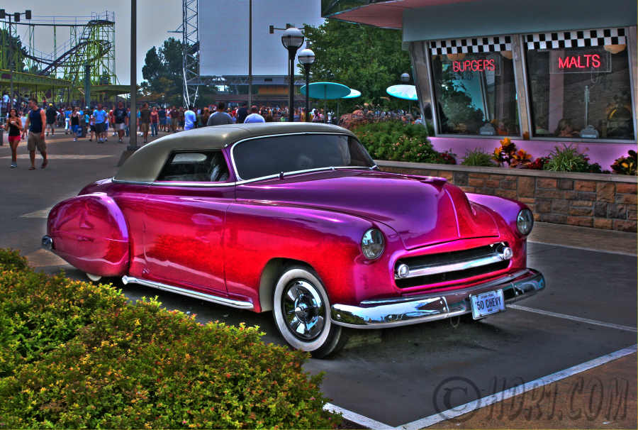 Hdr photography photo image awesome 1950 Chevy car Cedar Point Sandusky Ohio