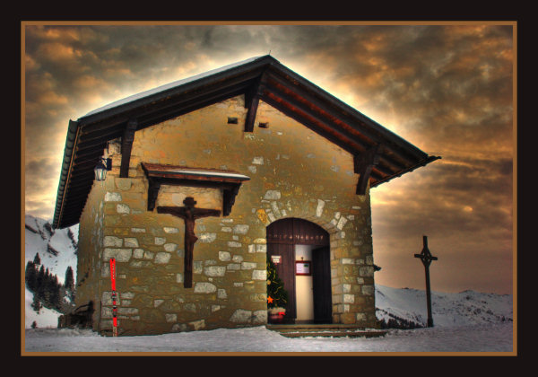 hdr photo klewenalp switzerland church