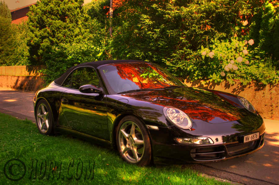 Hdr photography photo image porsche 911 exotic sports car