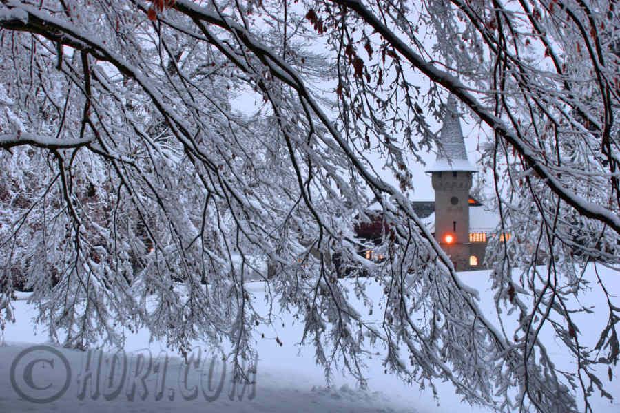 Luzern Switzerland hdr Photography Music Castle Snowy Trees