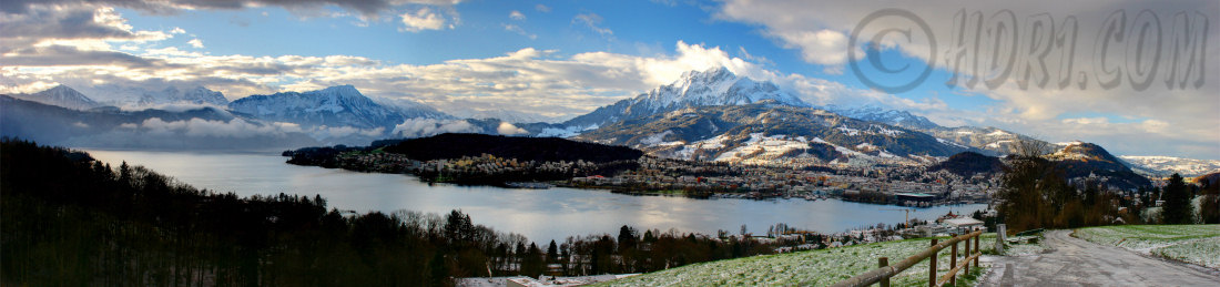Luzern Switzerland Mount Pilatus Swiss Alps background hdr photography panoramic